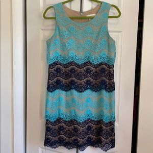 Jessica Simpson lace tiered dress